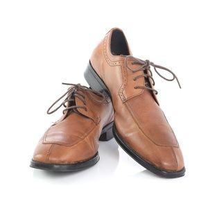 Johnston Murphy Brown Split Toe Derby Oxford Shoes